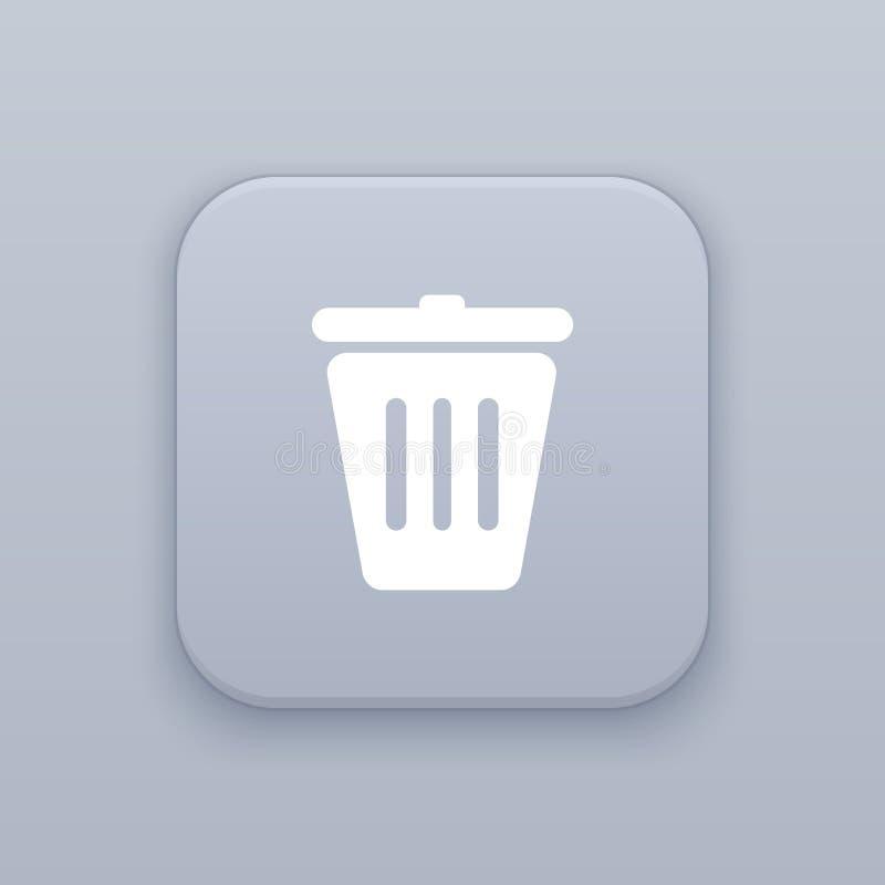 Déchets, bouton de poubelle, le meilleur vecteur illustration libre de droits