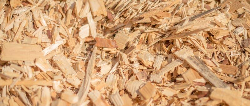 Déchets de bois industriels image libre de droits