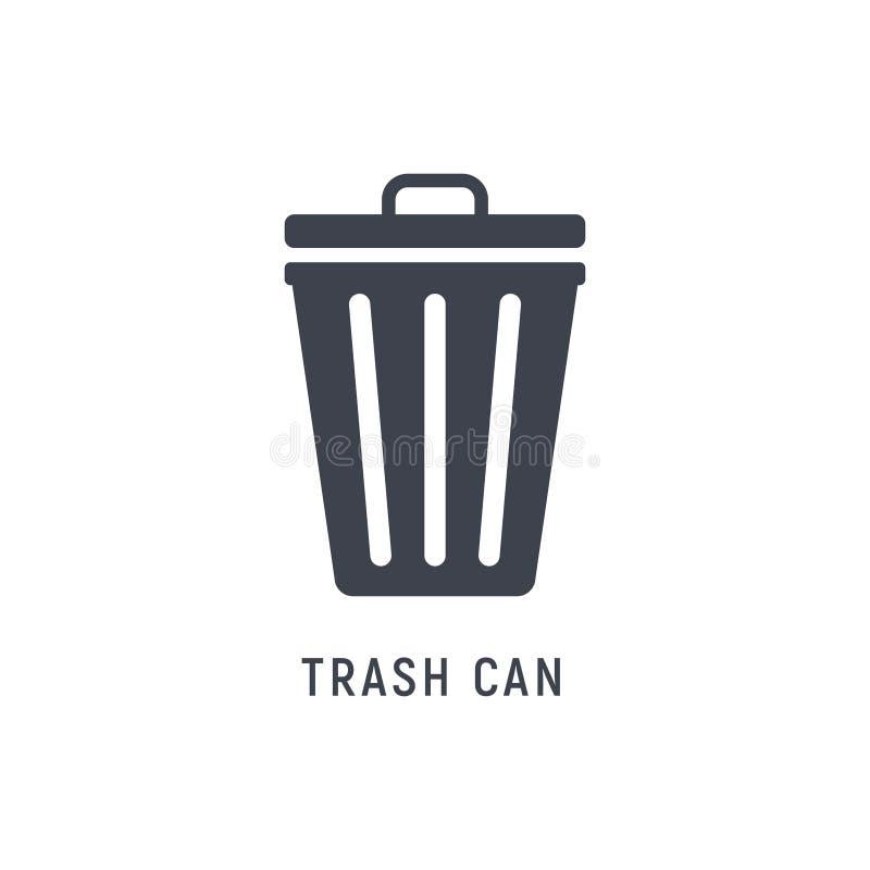 Déchets de poubelle de déchets de poubelle Seau vide de panier de poubelle illustration stock