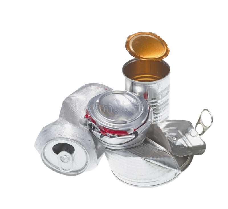 Déchets recyclables d'isolement sur le fond blanc images stock