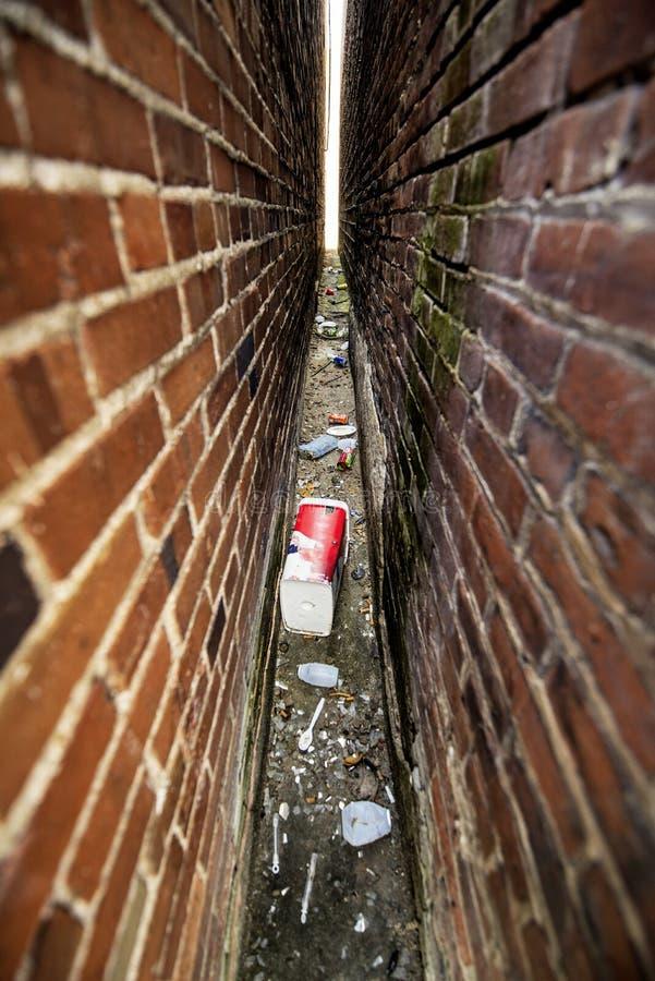 Déchets, ville-déchets images libres de droits