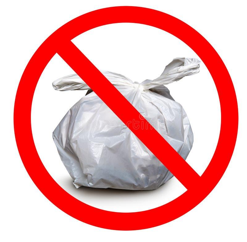 Déchets zéro, poubelle de déchets faite de plastique photos stock