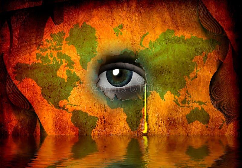 Déchirez la cloche pour le monde illustration libre de droits