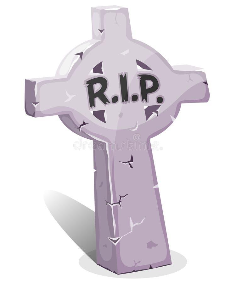 DÉCHIRURE de Christian Tombstone With de bande dessinée illustration libre de droits