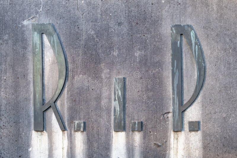 DÉCHIRURE Repos dans la paix headstone photo stock