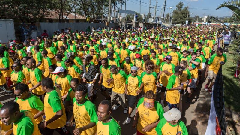 décimotercero edición del gran funcionamiento etíope fotografía de archivo