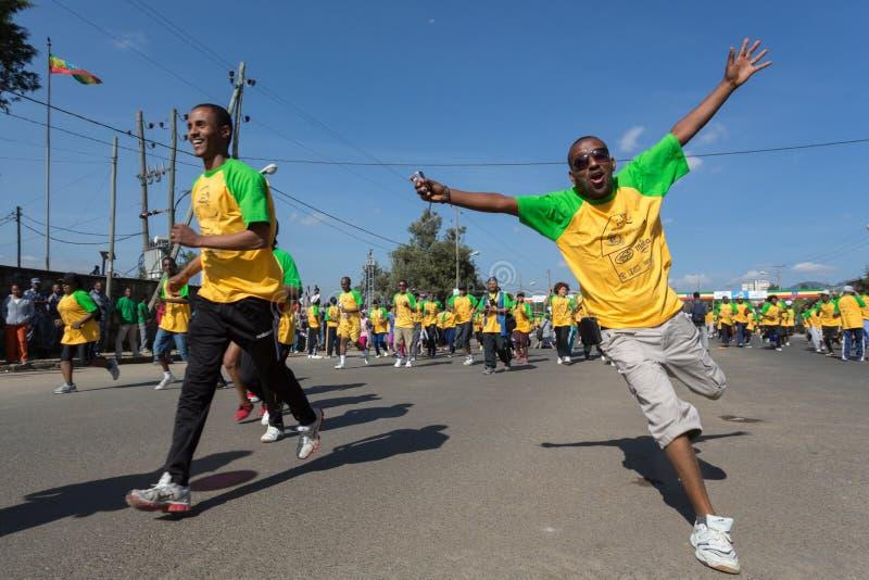décimotercero edición del gran funcionamiento etíope fotos de archivo
