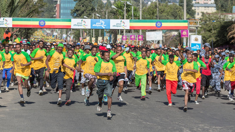 décimotercero edición del gran funcionamiento etíope imagen de archivo libre de regalías