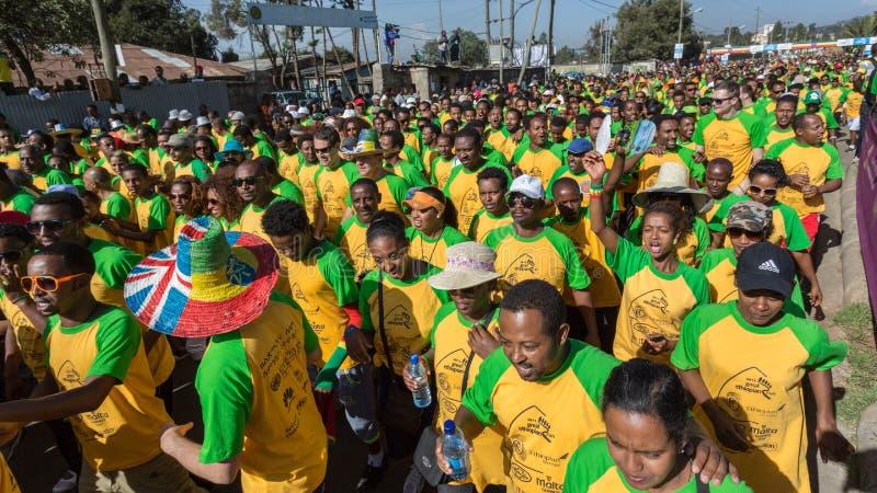 décimotercero edición del gran funcionamiento etíope fotos de archivo libres de regalías