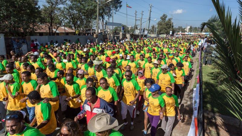 décimotercero edición del gran funcionamiento etíope foto de archivo