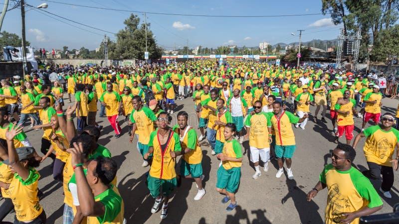 décimotercero edición del gran funcionamiento etíope imagenes de archivo