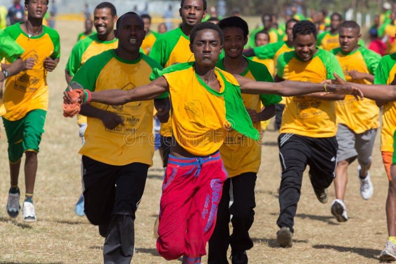 décimotercero edición del gran funcionamiento etíope imágenes de archivo libres de regalías