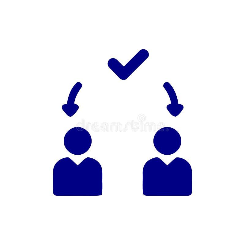 Décision économique, plan d'action, prise de décision, gestion, plan, planification, icône bleue de couleur de stratégie illustration libre de droits