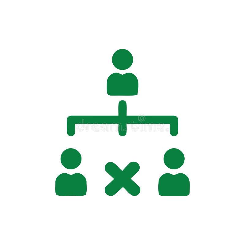 Décision économique, plan d'action, prise de décision, gestion, plan, planification, icône de couleur verte de stratégie illustration de vecteur