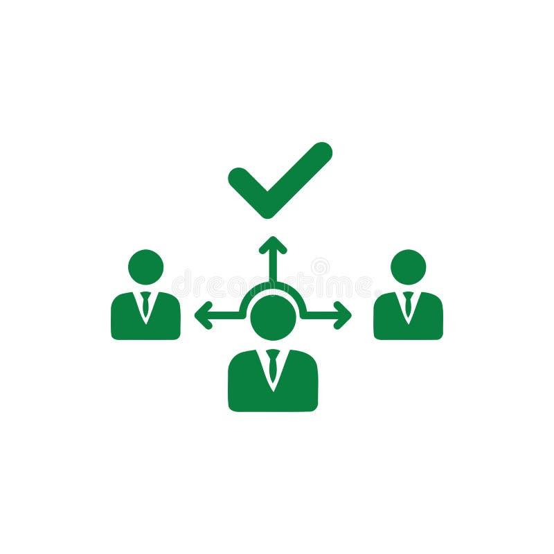 Décision économique, plan d'action, prise de décision, gestion, plan, planification, icône de couleur verte de stratégie illustration stock