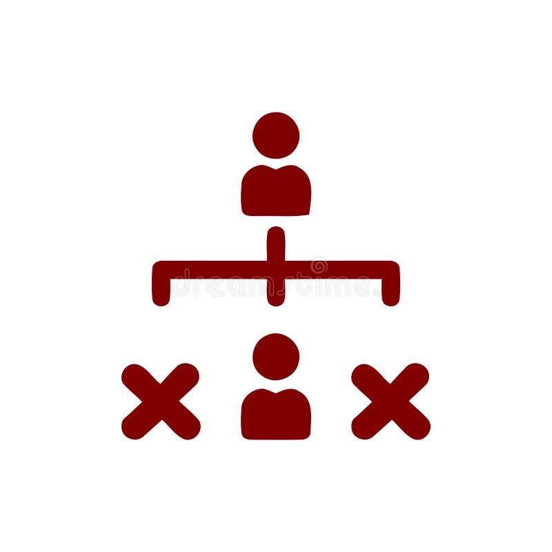 Décision économique, plan d'action, prise de décision, gestion, plan, planification, icône marron de couleur de stratégie illustration de vecteur