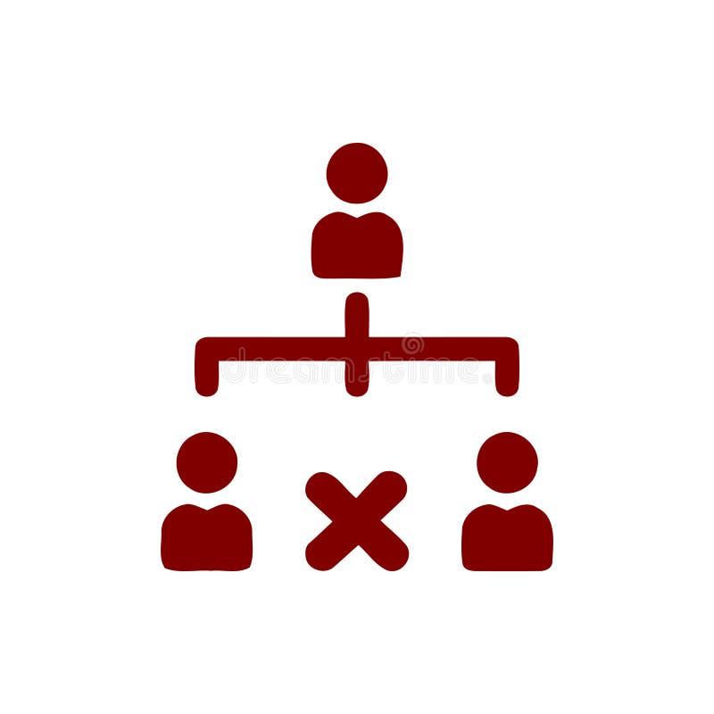 Décision économique, plan d'action, prise de décision, gestion, plan, planification, icône marron de couleur de stratégie illustration stock