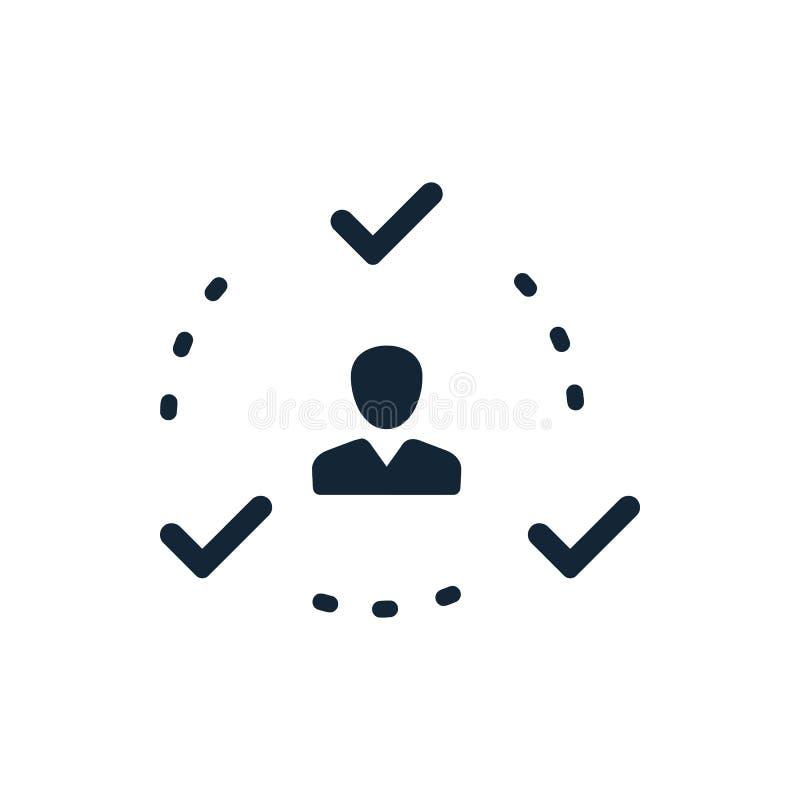 Décision économique, plan d'action, prise de décision, gestion, plan, planification, icône de stratégie illustration stock