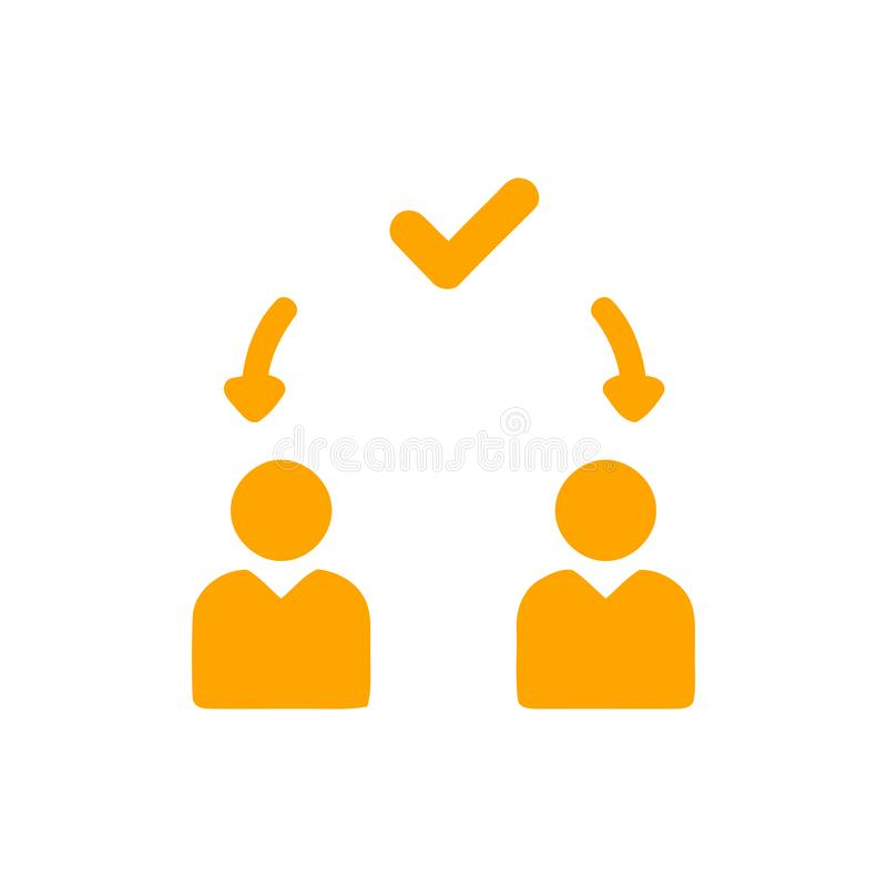 Décision économique, plan d'action, prise de décision, gestion, plan, planification, icône de stratégie illustration libre de droits