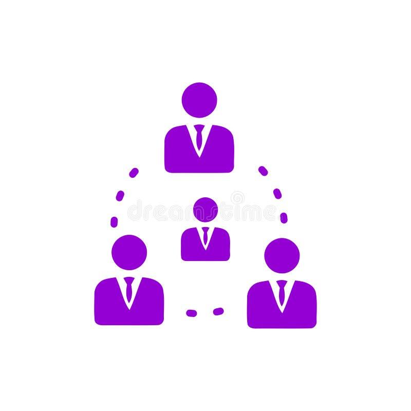 Décision économique, plan d'action, prise de décision, gestion, plan, planification, icône violette de couleur de stratégie illustration de vecteur