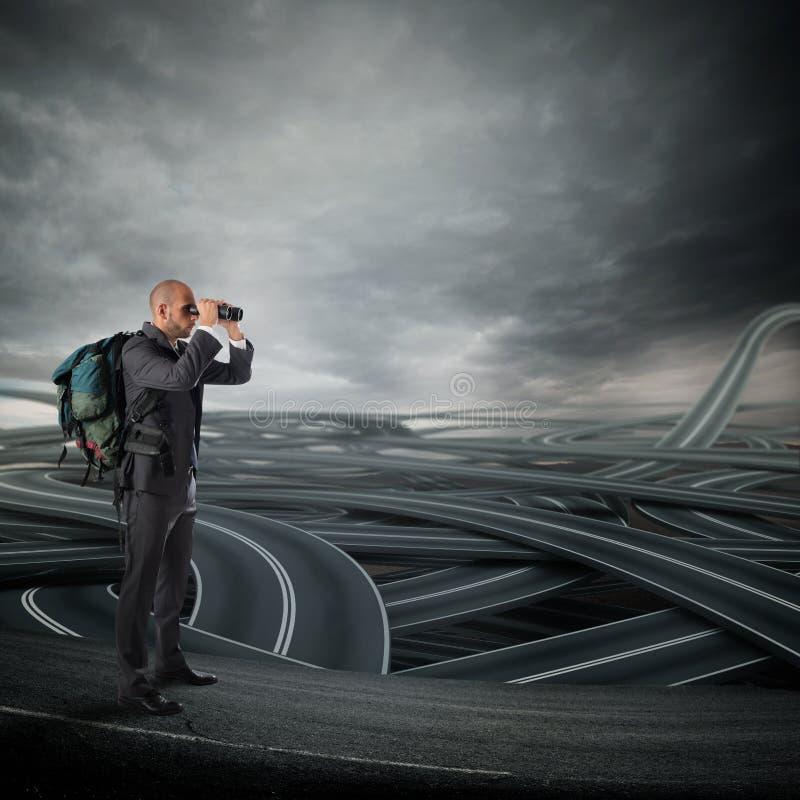Décision compliquée de carrière d'avenir d'affaires photographie stock