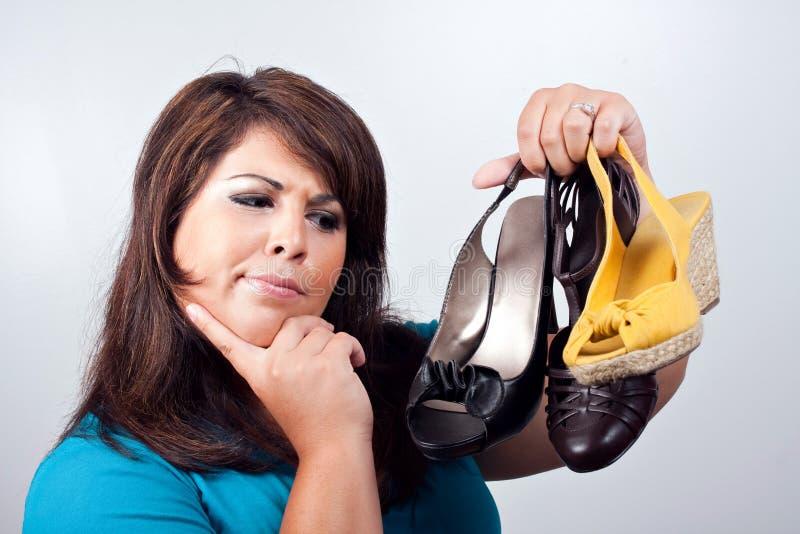 Décision de chaussures image libre de droits