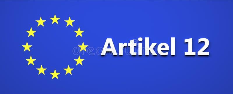 Décision de loi d'Union européenne - illustration illustration libre de droits