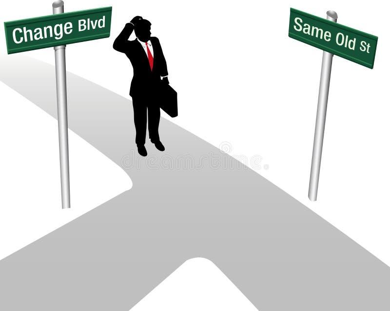 Décision de Person Choose Same ou de changement illustration de vecteur