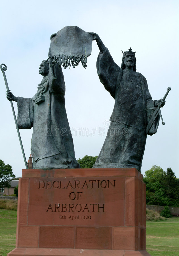 Déclaration d'Arbroath, Ecosse photo libre de droits