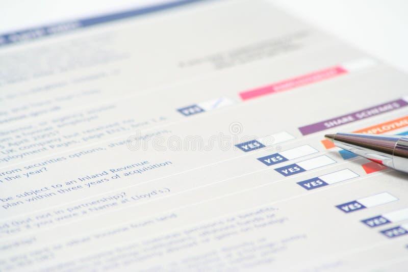 Déclaration d'impôt images stock