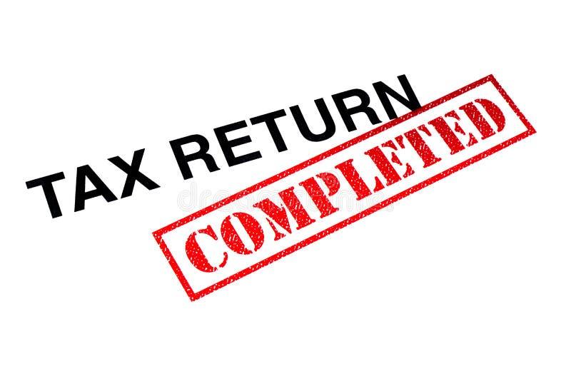 Déclaration d'impôt accomplie photo stock