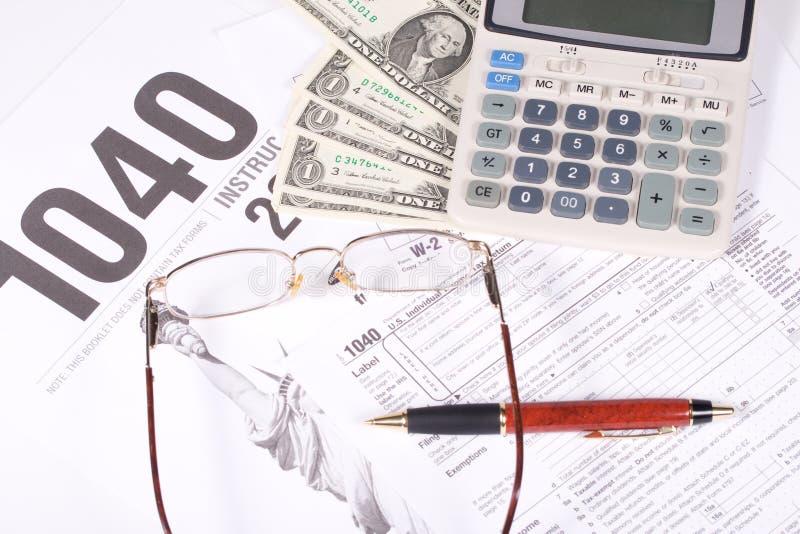 Déclaration d'impôt des Etats-Unis photos stock
