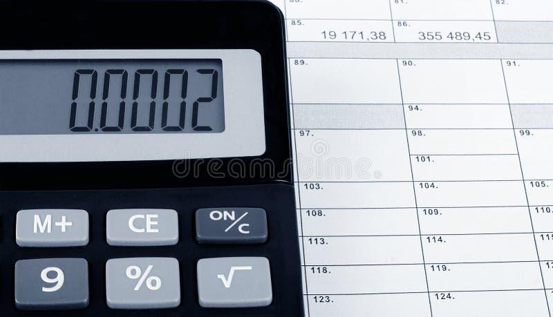 Déclaration d'impôt officielle photo stock