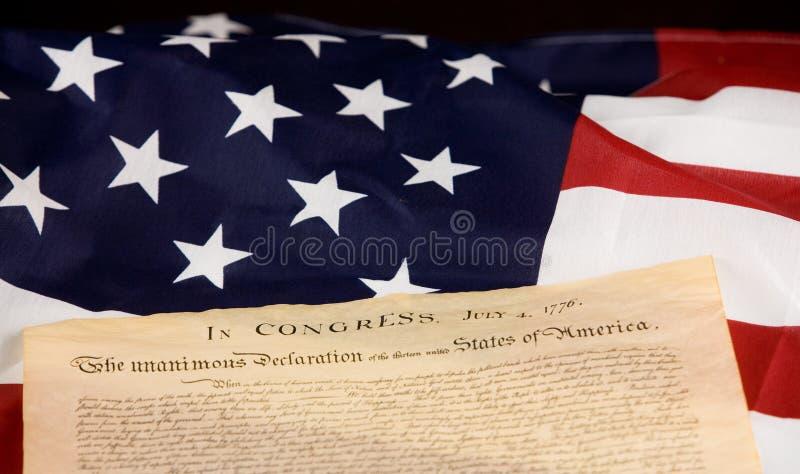 Déclaration d'indépendance images stock