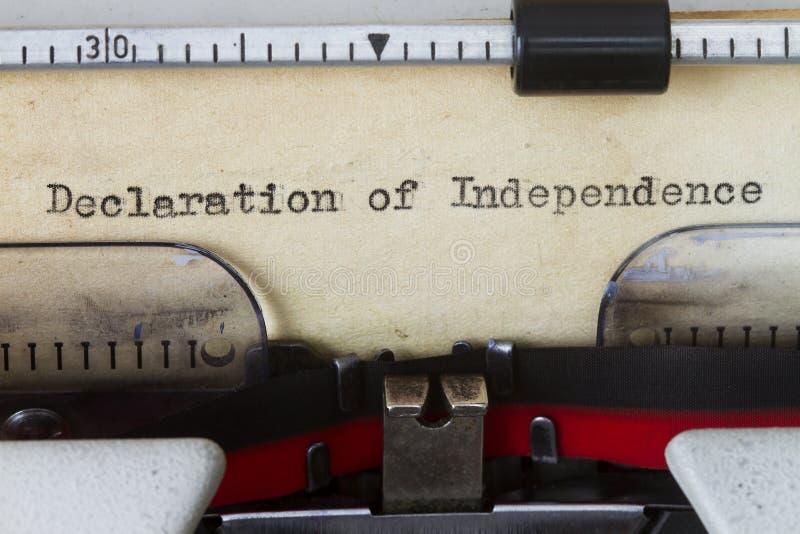 Déclaration d'indépendance photographie stock