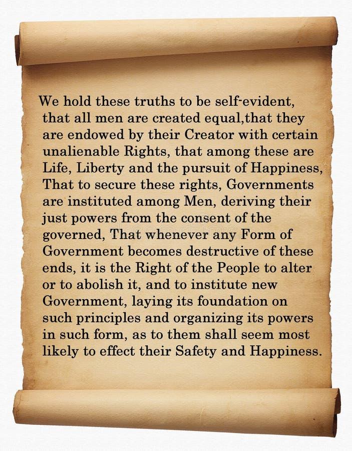 Déclaration d'indépendance images libres de droits