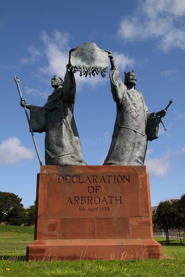 Déclaration de monument d'Arbroath photos libres de droits