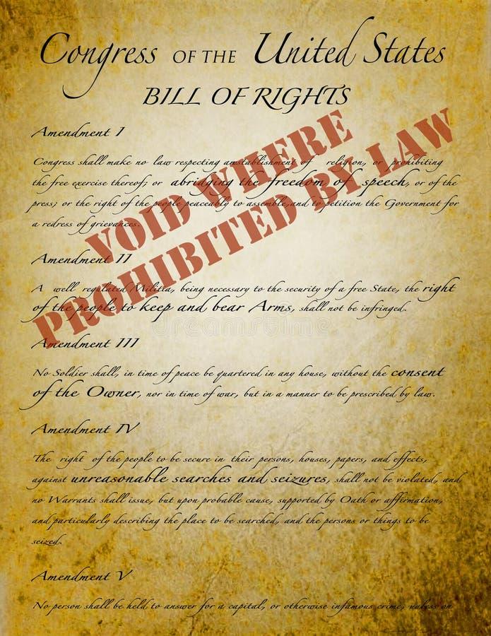 Déclaration des droits, illustration de vecteur