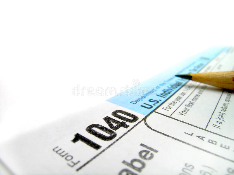 Déclarations d'impôt 1040 photos libres de droits