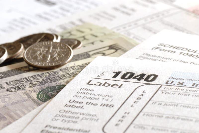 Déclarations d'impôt 2009 photos libres de droits