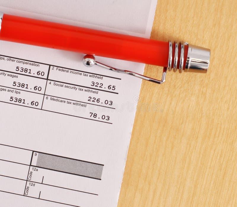 Déclarations d'impôt image libre de droits
