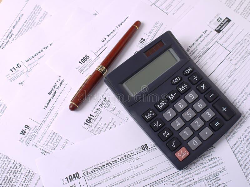 Déclarations d'impôt photo libre de droits