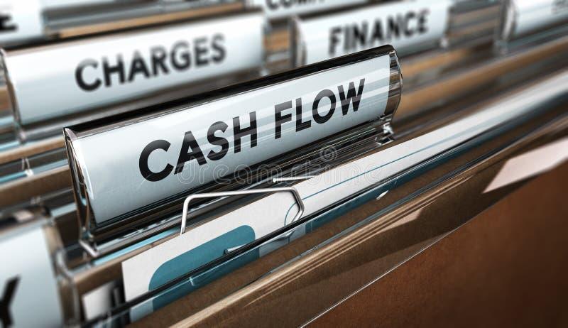 Déclarations de flux de liquidités de société illustration libre de droits