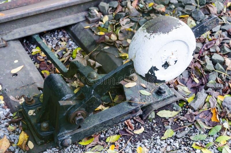 Déclencheur de commutateur ferroviaire image stock