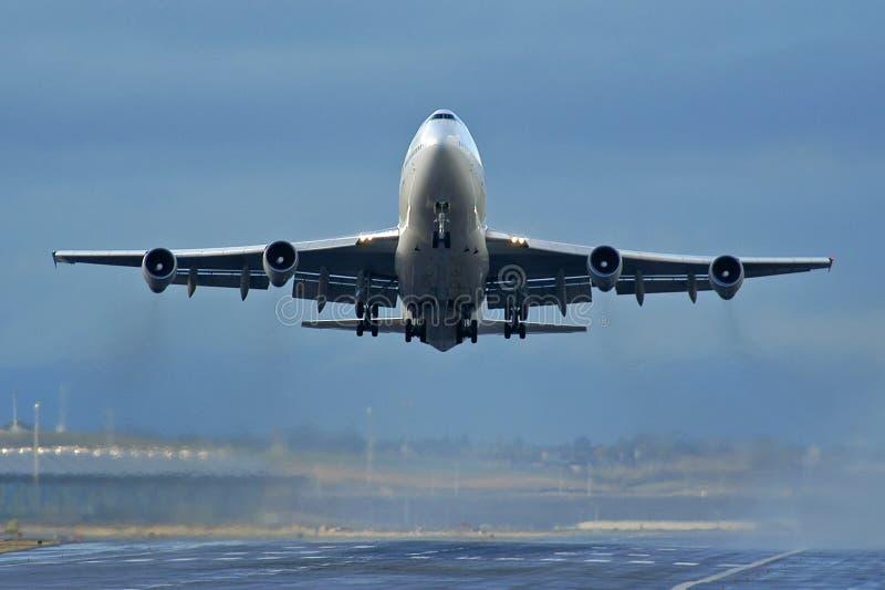 Décollage d'aéronefs photos libres de droits