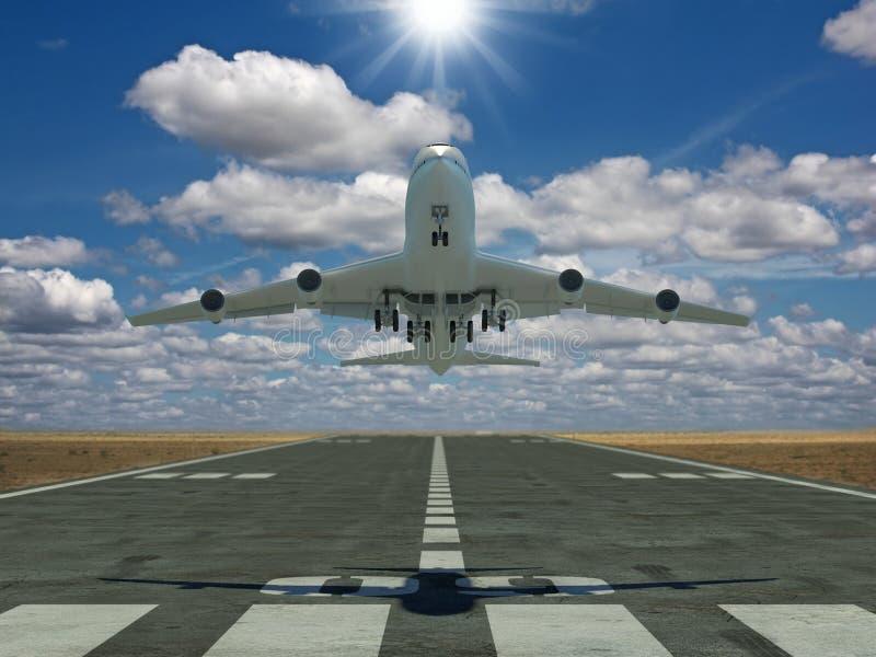 Décollage d'avion illustration stock