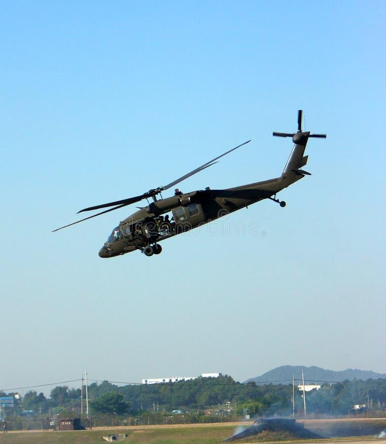 Décollage d'UH60 Blackhawk images libres de droits