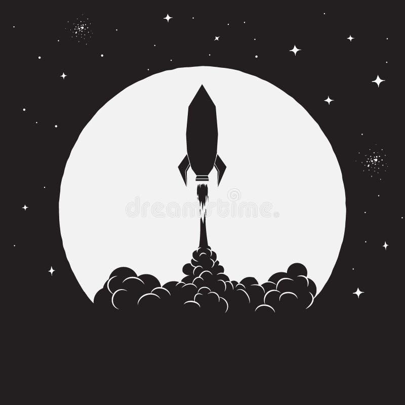 Décollage de fusée illustration libre de droits