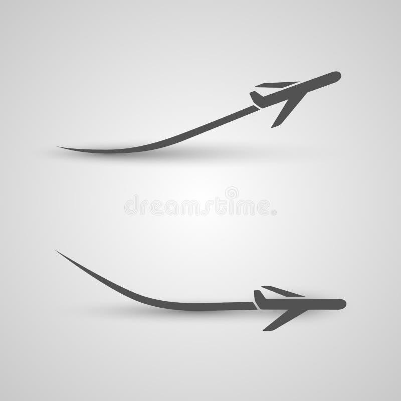 Décollage et atterrissage plats illustration de vecteur