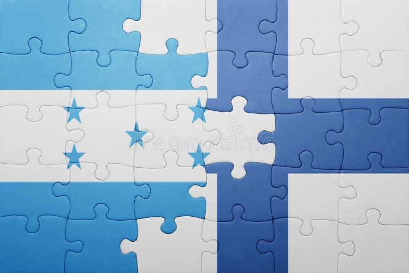 déconcertez avec le drapeau national du Honduras et de la Finlande illustration libre de droits